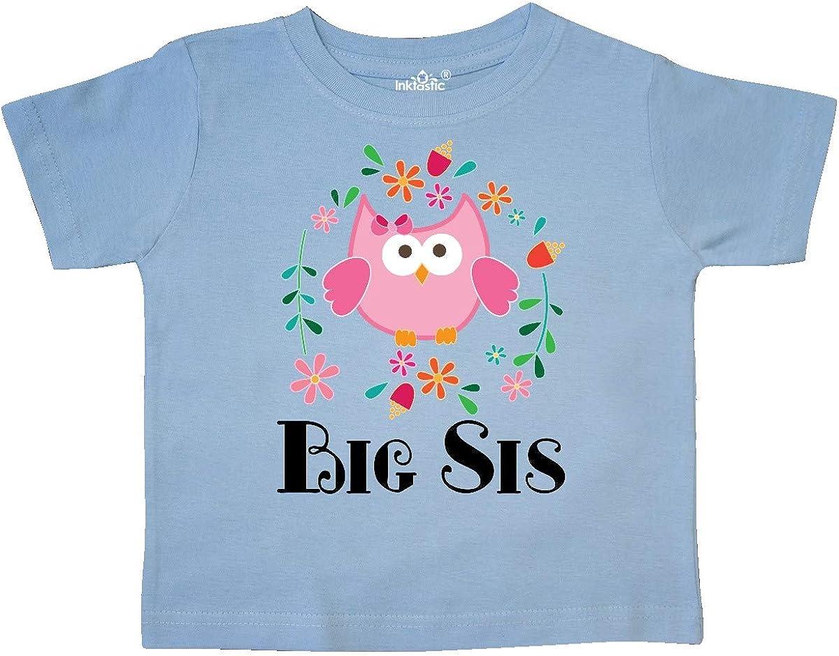 inktastic Big Sis Girls Sister Announcement Toddler T-Shirt