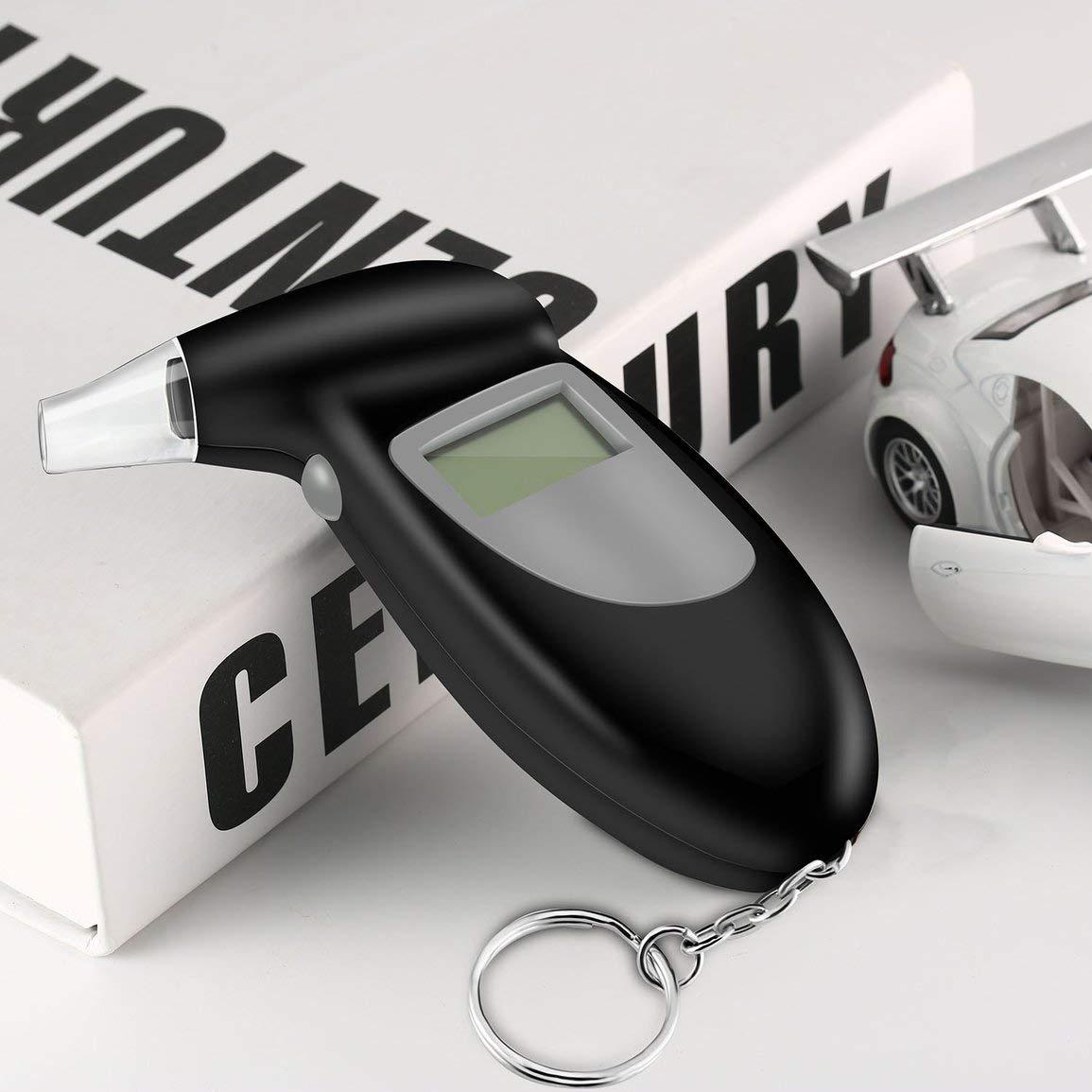 Garciadia Digital Alkohol Tester Alkoholtester Analyzer Detector Test Keychain Alkoholtester Alkoholtester Ger/ät LCD-Display Farbe: Schwarz /& Grau