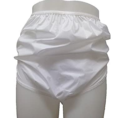 a31845722273 Mylesta Ladies Plain White Waterproof Incontinence Briefs Pants Knickers:  Amazon.co.uk: Clothing