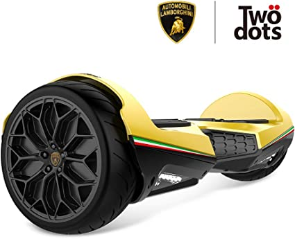 LAMBORGHINI Off Road Hoverboard All,Terrain with App and LED Lights,  Two,Wheel Bluetooth Self Balancing Scooter with UL2272 Certification for  Kids,