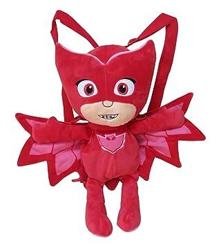 C Y P Peluche Mochila PJ Masks 3D Buhita, Color Rojo (CYP 102MCPJ)