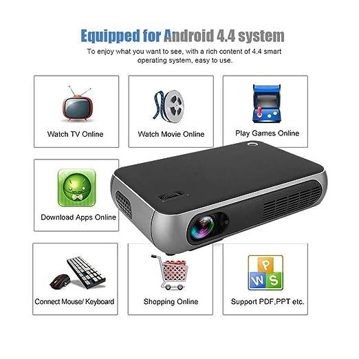 Ai LIFE Proyector Video proyector de 6800 lúmenes Proyector HD ...