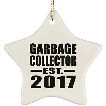 Amazon Com Garbage Collector Established Est 2017 Star Ornament
