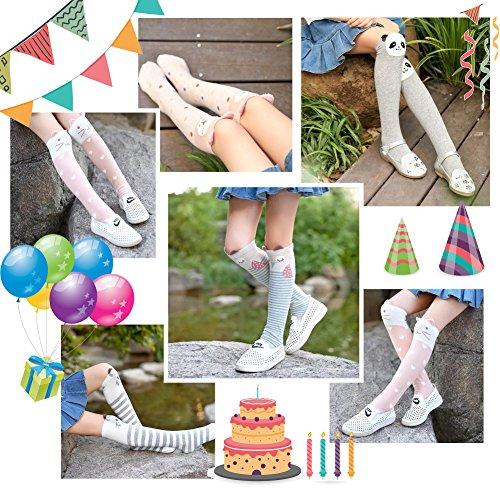 Color City Kids Girls Socks Knee High Stockings Cartoon Animal Theme Cotton Socks (6 Pairs) by Color City (Image #6)