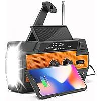 $35 » Weather Radio - Emergency Radio NOAA - Hand Crank Radio Flashlights for Emergencies AM/FM…