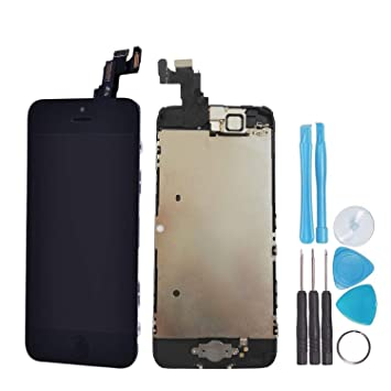 8577e8fc834 LL Trader Para iPhone 5c Negro Pantalla LCD digitalizador de pantalla  táctil Full montaje lente de