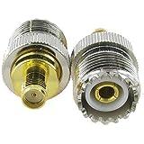 niceeshop(TM) SMA Femelle Pour UHF Connecteur Femelle Adaptateur RF