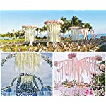 LUSHIDI-328Ft-Artificial-Silk-Wisteria-Vine-Hanging-Flowers-Garland-Home-Outdoor-Wedding-Arch-Garden-Wall-DecorPack-of-10-Off-White