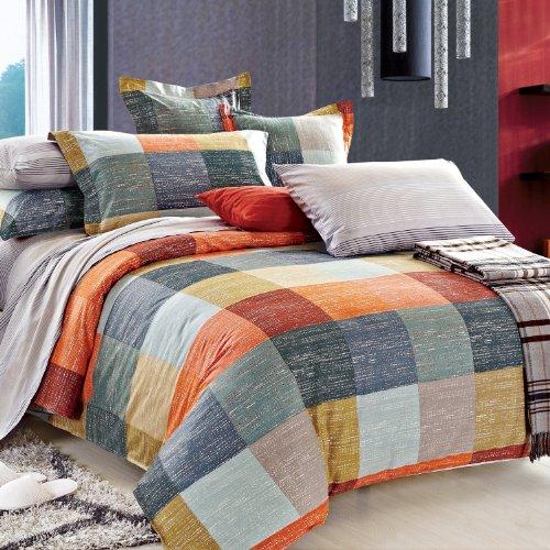 North Home Meridian 100% Cotton 4 PC Duvet Cover Set