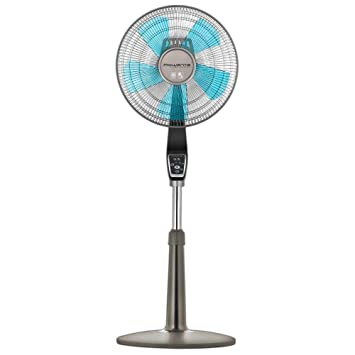 Rowenta Fan, Oscillating Fan with Remote Control, Standing Fan, 4-Speed,  Silver