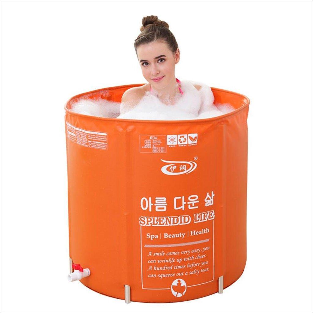 LQQGXL,Bath Folding bathtub adult bathtub free inflatable bathtub thick bathtub orange Inflatable bathtub