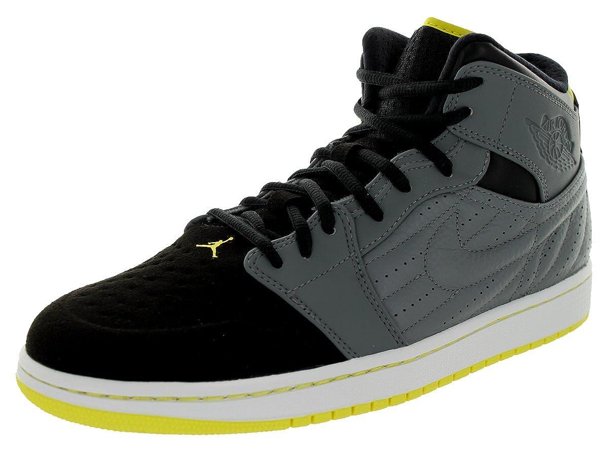 best service 7696b 39e98 [654140-032] AIR Jordan AIR Jordan 1 Retro 99 Mens Sneakers AIR JORDANCOOL  Grey VBRNT Yellow Black White