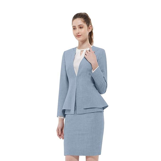 Amazon.com: Conjunto de traje de negocios para mujer para ...