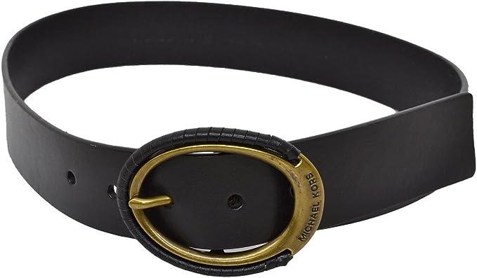 Michael Michael Kors Womens Eclipse Buckle Leather Belt Black