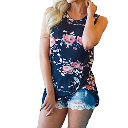 eef46369f1fac8 Amazon.com  Gallity Clearance Sale ! Floral Printed Blouse
