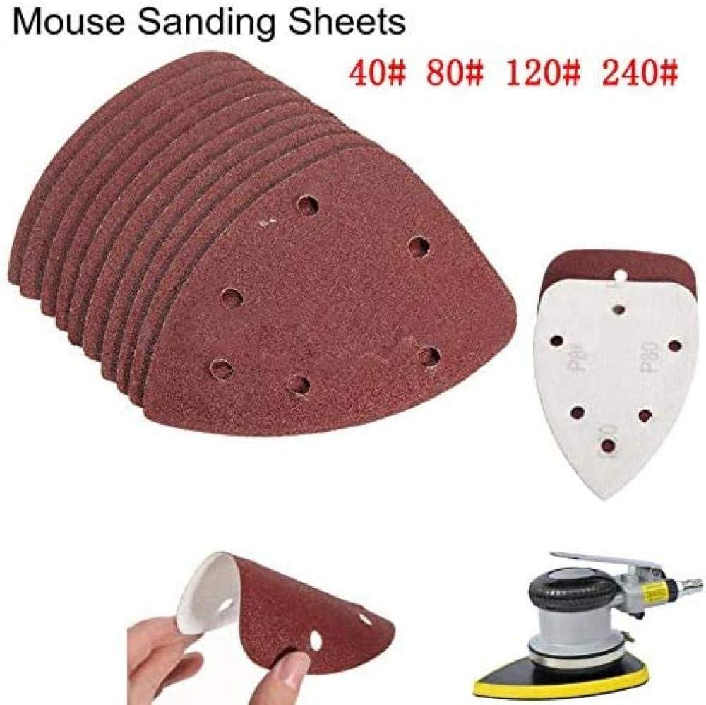 Papel de lija de rat/ón 40PCS 80 14cm gancho anillo detalle papel de lija papel lija hoja de papel de lija 40 120 240#