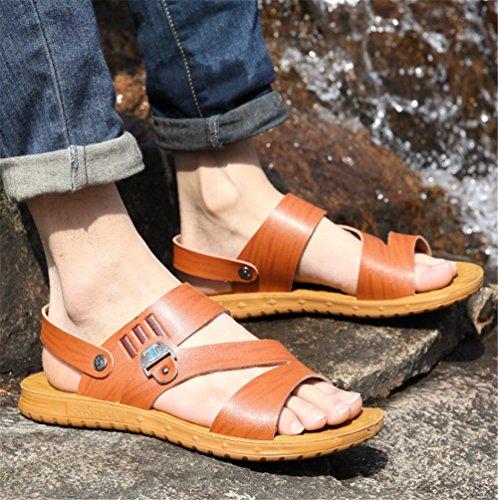Casual spiaggia 41 Spiaggia Uso Scarpe Sandali 1 EU Sandali Nero da pantofole Doppio E Dimensione Comfort A Da Colore Wagsiyi Estivi Marrone 3 Uomo Da Pantofole 6qYPf6Tp