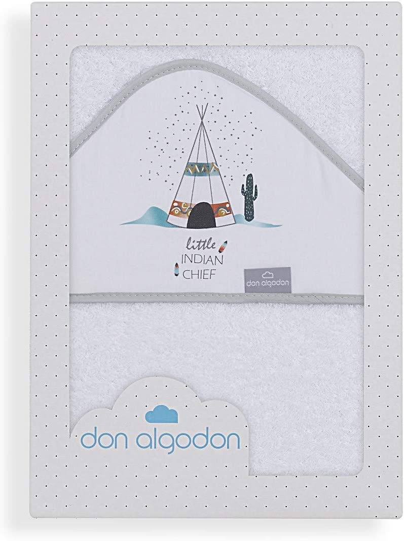 Don Algodón Capa de Baño Dakota Blanco: Amazon.es: Bebé