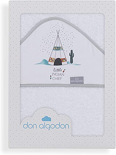 Don Algodón Capa de Baño Dakota Blanco: Amazon.es: Bebé