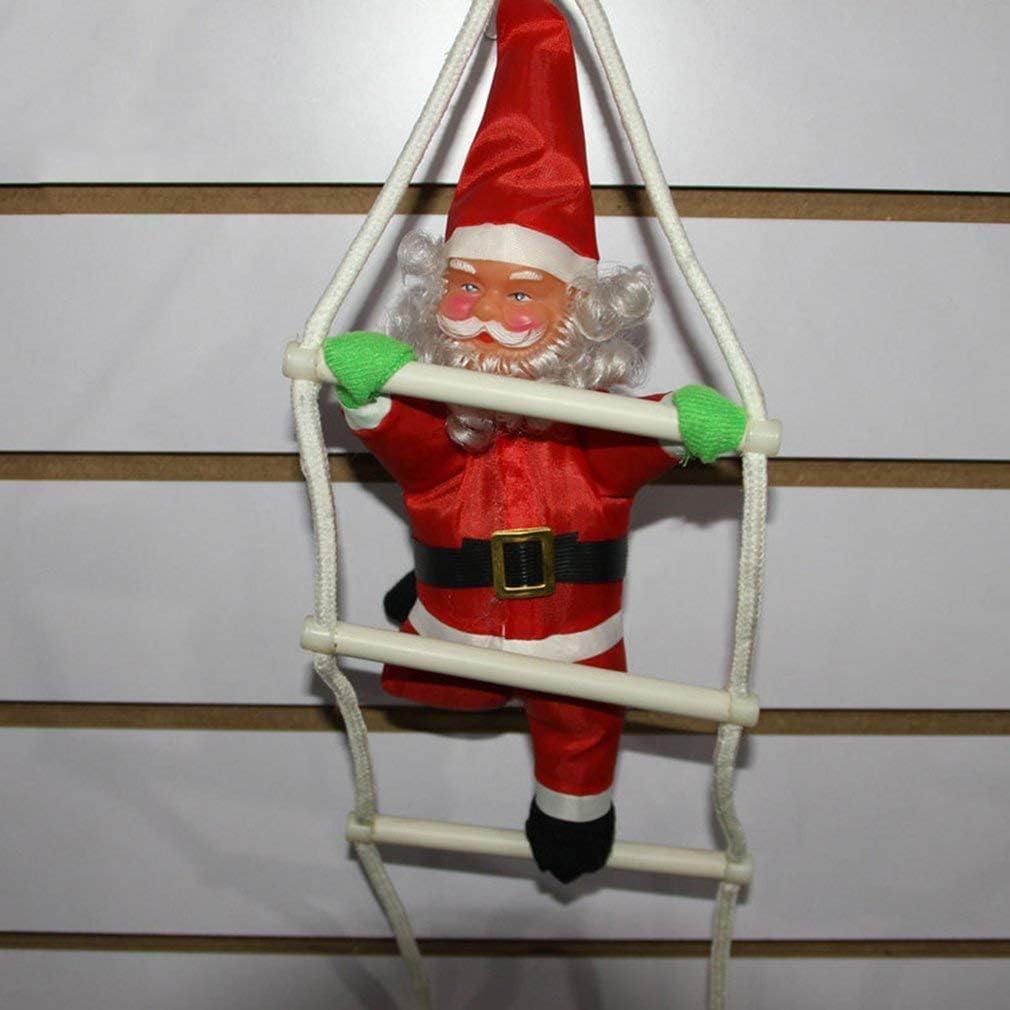 Papá Noel Escaleras para trepar Decoración del árbol de navidad Adorno de año nuevo Papá Noel Donaciones para regalos Colgantes de gran tamaño con escalera, rojo: Amazon.es: Bebé