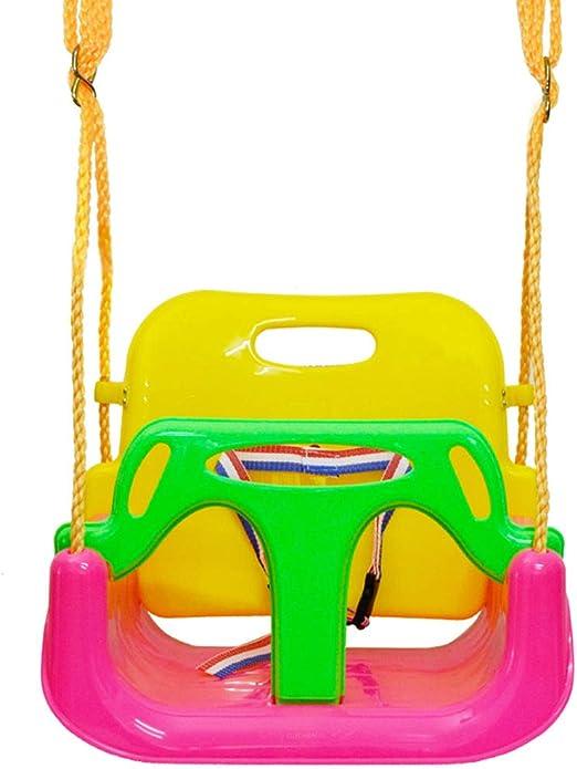 QVIVI Asiento de Columpio para niños Uso en el hogar 3 en 1 Columpio para bebés Juguete de Columpio de jardín al Aire Libre para bebés niños bebés niños pequeños Rosado: Amazon.es: