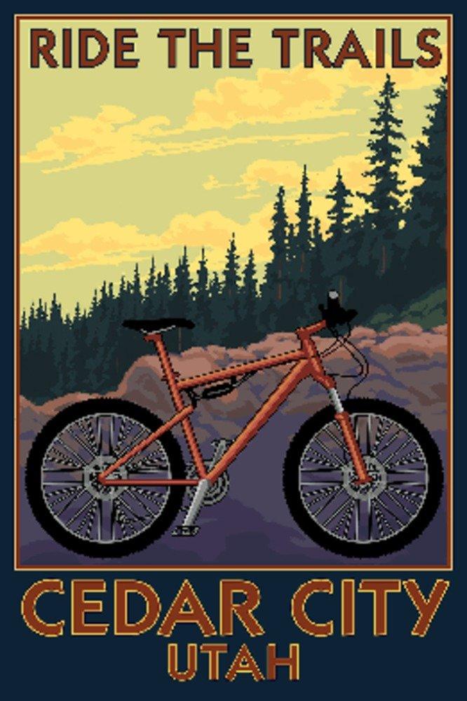 超特価SALE開催! Cedar the City x、ユタ州 Art – Mountain Bikeシーン – Ride the Trails 9 x 12 Art Print LANT-76062-9x12 B074RX2GKY 8oz Coffee Bag 8oz Coffee Bag, 東藻琴村:15fff42b --- arianechie.dominiotemporario.com