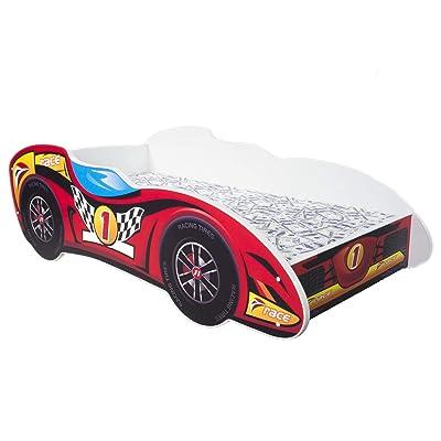 Topbeds - Cama infantil, diseño coche de carreras F1, colchón incluido, 160 x 80 cm: Hogar