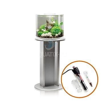 biOrb TUBE 15 L en blanco con iluminación LED, calentador y soporte de plata: Amazon.es: Productos para mascotas
