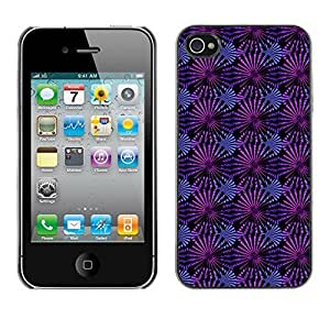 PatternViking PC Polycarbonate Aluminium Back Case Cover Apple iPhone 4 / 4S ( cute flower )