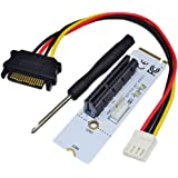 Tiptiper NGFF M.2 To PCI-E 1X/4X/8X/16X ETH/ETC Graphics Card Drive Slot Adapter for PC Desktop Laptop