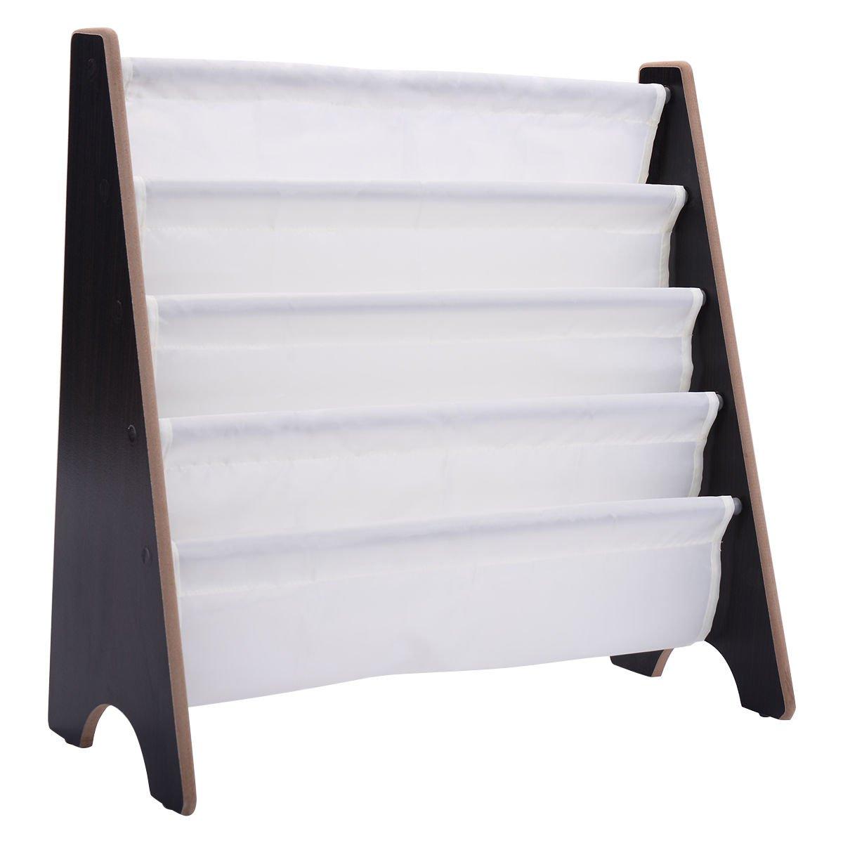 Kids Book Shelf Bookcase Child Rack Organizer Storage Furniture Children Room Coffee