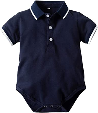 Bebe Niño Polo Body Pelele Manga Corta Mono Mameluco Ropa Verano de la Traje Algodón del Camisa Caballero Pijama: Amazon.es: Ropa y accesorios