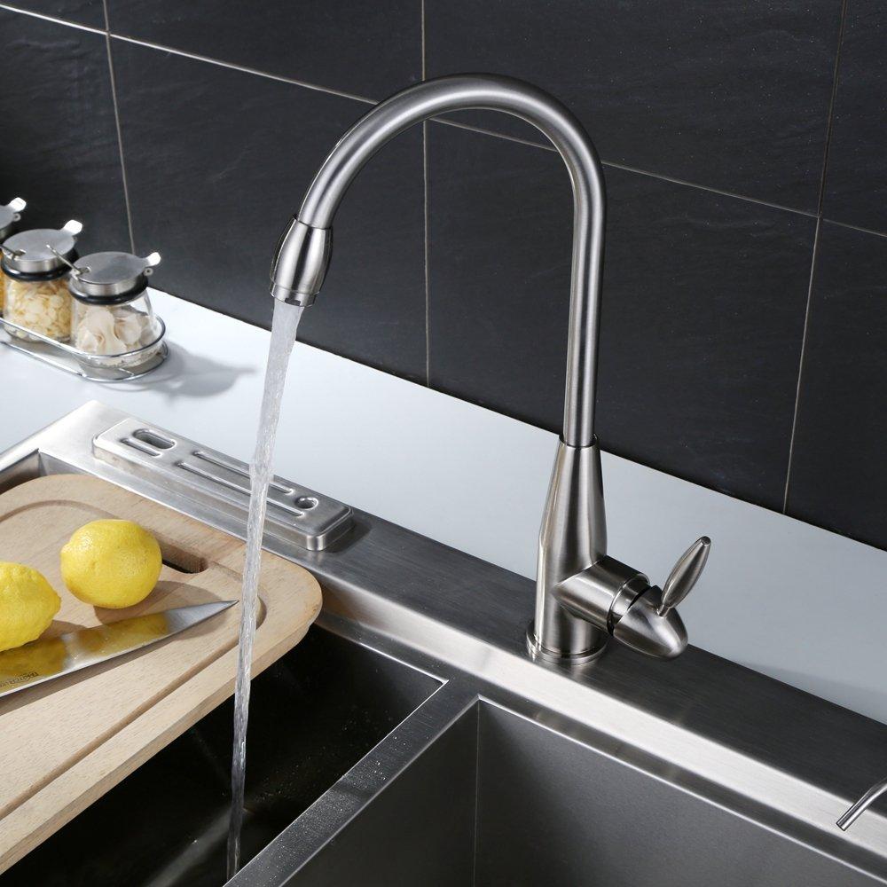 Homfa 360° schwenkbar Küchen Armatur Waschtischarmatur Küchenarmatur ...