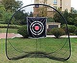 Galileo 7'x7'Golf net with target   16mm high-duty steel pipes golf hitting net  golf training net for indoor&outdoor &backyard (black)