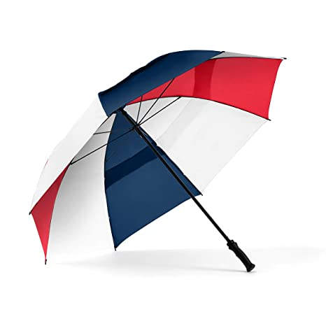 c182055f69eb ShedRain Windjammer Vented Golf Umbrella: Navy, Red and White