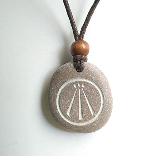 Carved stone pendant with a awen amazon handmade carved stone pendant with a awen mozeypictures Gallery