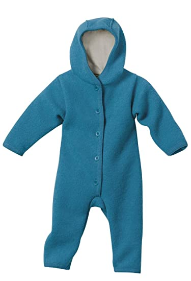 4060f0985 DISANA 100% ORGANIC BOILED WOOL OVERALL ROMPER HOODED NEWBORN/BABY MADE IN  GERMANY (