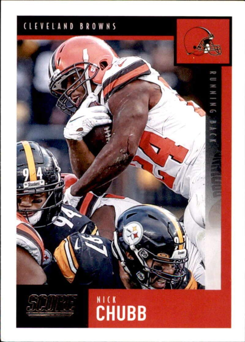 Amazon Com 2020 Score 66 Nick Chubb Cleveland Browns Football Trading Card Collectibles Fine Art