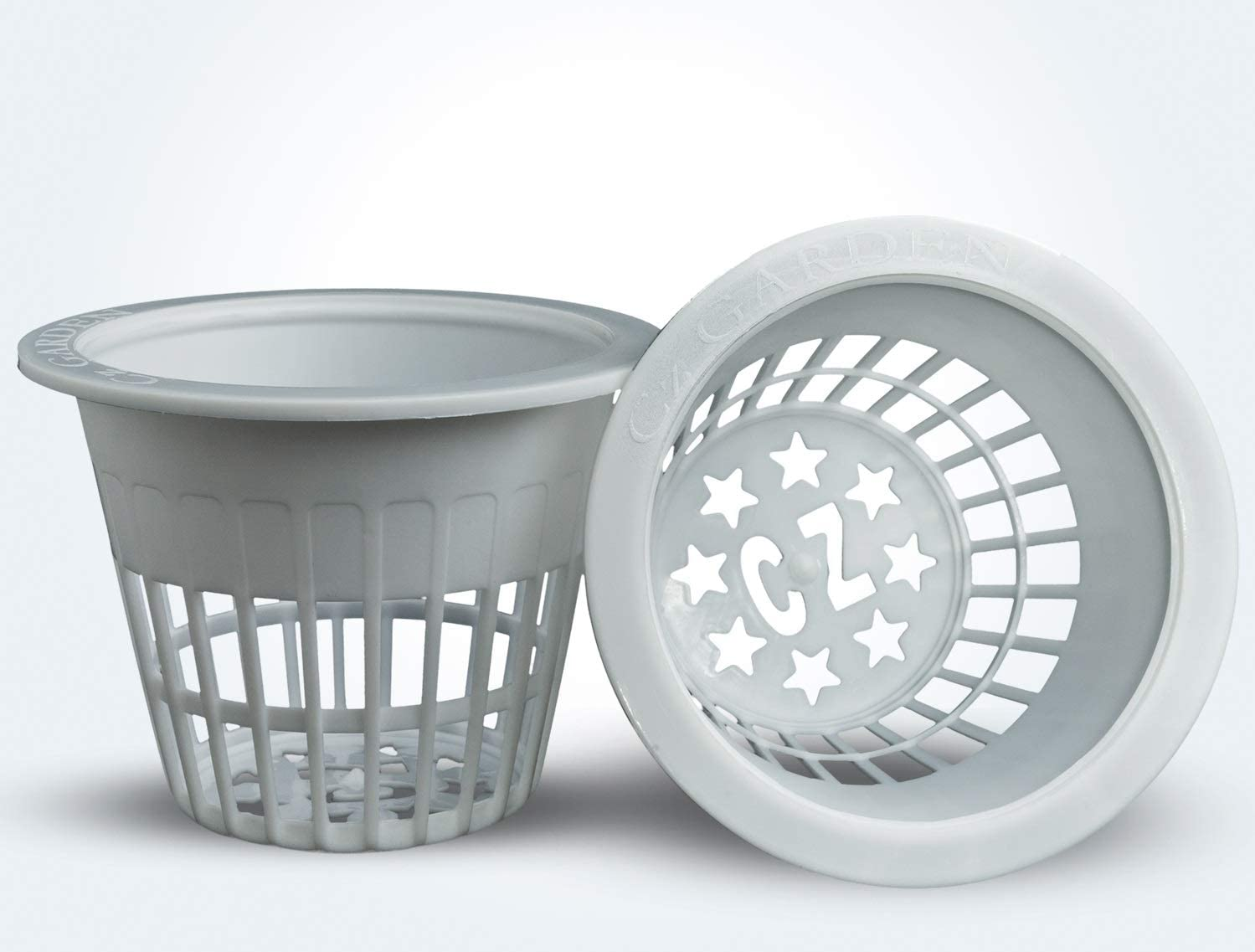 12 Pack - Cz All Star Round Heavy Duty Net Cups Pots Wide Lip Design - Orchids • Aquaponics • Aquaculture • Hydroponics Slotted Mesh by Cz Garden (3 inch Cz All Star Net Pots – 12 White)