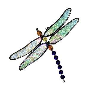 J Devlin Orn 112 Stained Glass Dragonfly Ornament Window Sun Catcher
