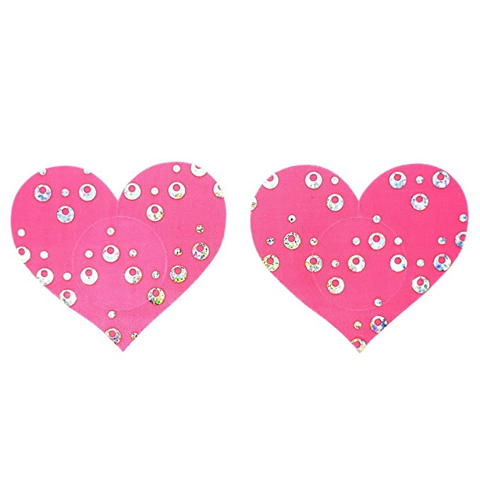 979bbea3d9460 Image Unavailable. Image not available for. Color  10 Pairs Women Sexy  Heart Shape Disposable Pasties Nipple Cover ...