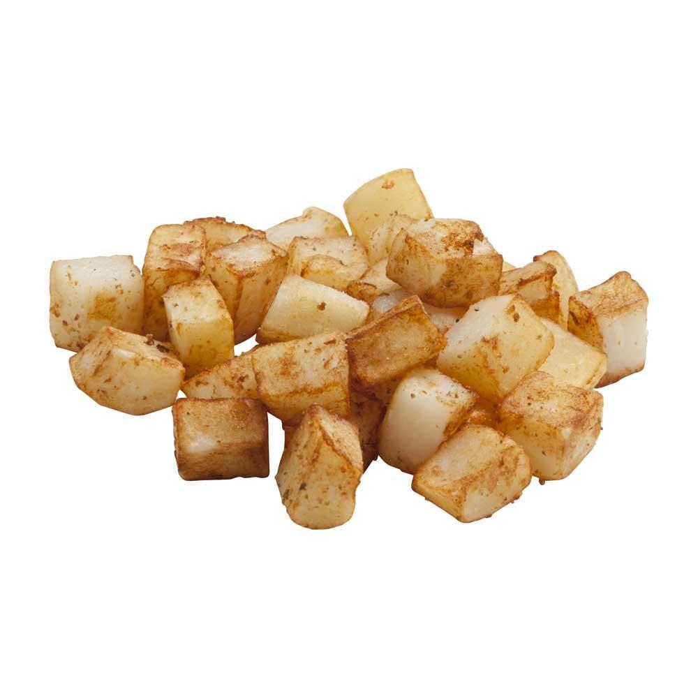 Simplot Freezerfrige 1/2 inch Cube Hash Brown Potato, 5 Pound - 4 per case.