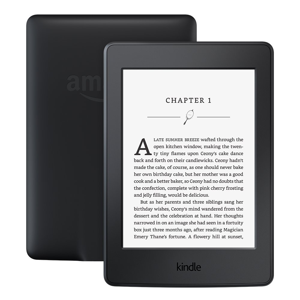 Kindle Paperwhite E-reader - Black, 6'' High-Resolution Display (300 ppi) with Built-in Light, Wi-Fi - Includes Special Offers by Amazon
