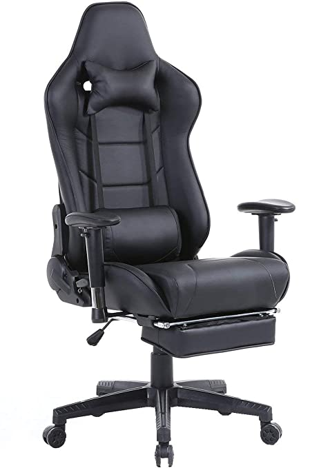 DEMAX Racing Silla Gaming de Oficina Mecanismo de inclinación cojin Lumbar Racing Silla de Escritorio Ordenador