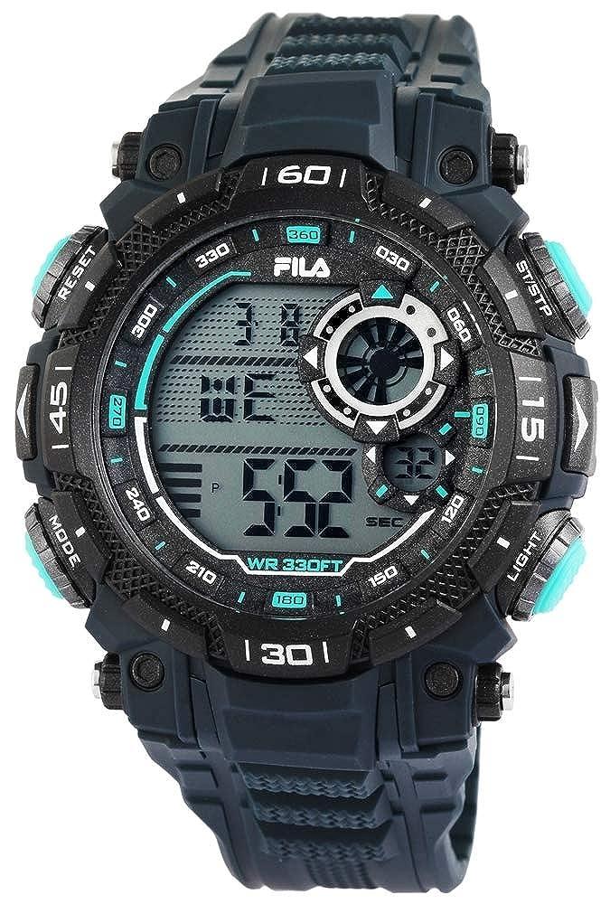 Fila Reloj Digital para Hombre de Cuarzo con Correa en Silicona 38-826-002