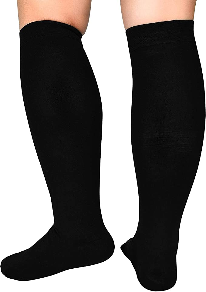 Big Tall Plus Size Wide Calf & Extra Wide 20-30 mmHg Open