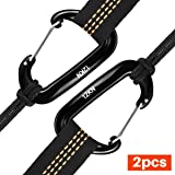 ETROL 12KN Aluminium Carabiners, 12KN Aluminium Carabiners Heavy Duty Lightweight Carabiner Clips for Hammock, Camping, Hiking, Backpacking, Keychain, Dog Leash & Harness etc, 2 Pack
