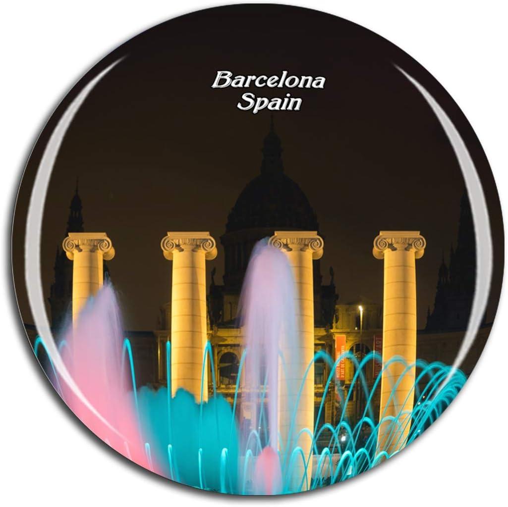 Weekino España La Fuente Mágica Barcelona Imán de Nevera 3D de Cristal de la Ciudad de Viaje Recuerdo Colección de Regalo Fuerte Etiqueta Engomada refrigerador: Amazon.es: Hogar