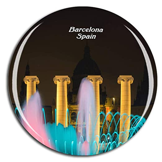 Weekino España La Fuente Mágica Barcelona Imán de Nevera 3D de ...