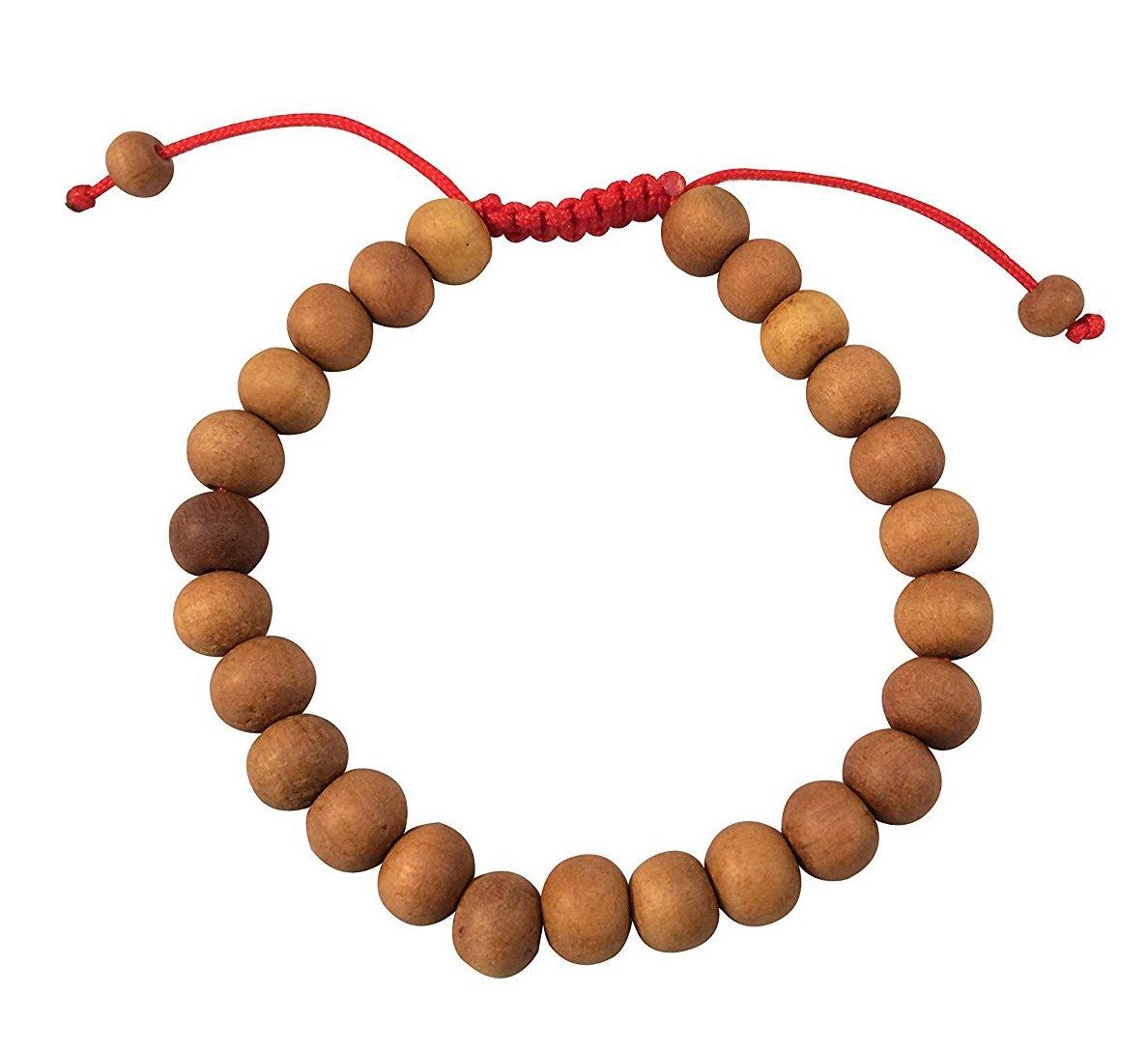 Tribe Azure Tibetan Sandalwood Wrist Mala Bracelet Adjustable Healing Meditation Yoga Buddhist Wood Chakra